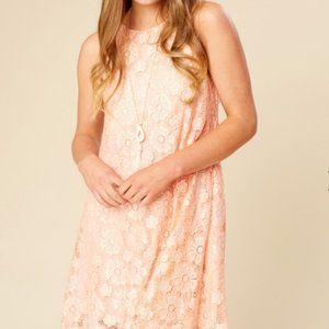 Altar'd State Peach Lace Slip Dress